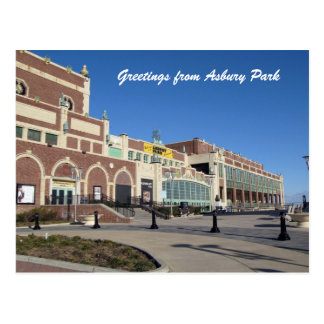 Paramount Theater Convention Hall Asbury Park NJ Postcard