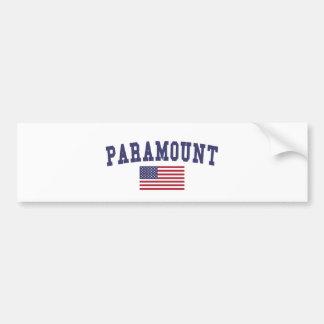 Paramount US Flag Bumper Sticker