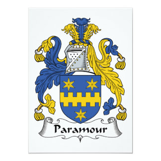 Paramour Family Crest 5x7 Paper Invitation Card