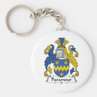 Paramour Family Crest Basic Round Button Keychain