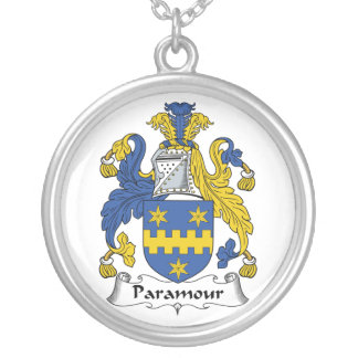 Paramour Family Crest Round Pendant Necklace