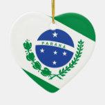 Parana, Brazil flag Christmas Tree Ornament