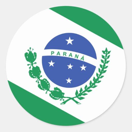 Parana, Brazil flag Stickers