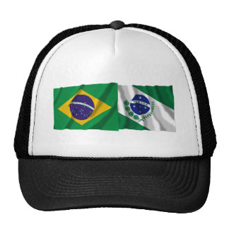 Paraná &  Brazil Waving Flags Trucker Hat