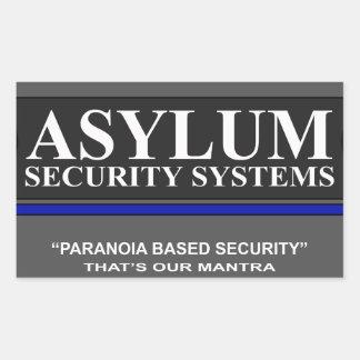 Paranoia Based Security Rectangular Sticker