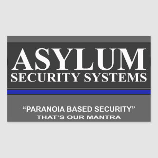 Paranoia Based Security Stickers