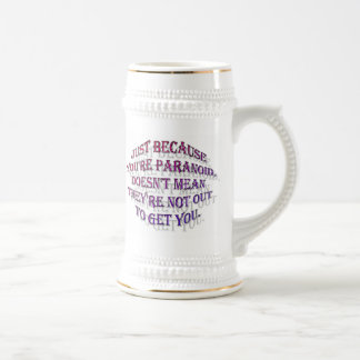 Paranoia Beer Stein