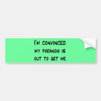 paranoia pegatina de parachoque