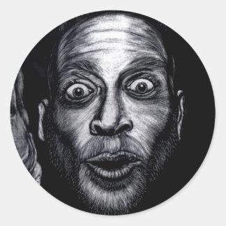 Paranoia  classic round sticker