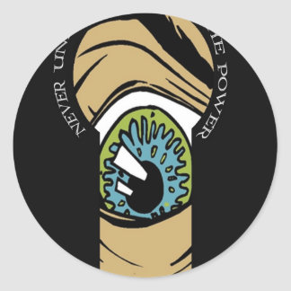 Paranoia Round Sticker
