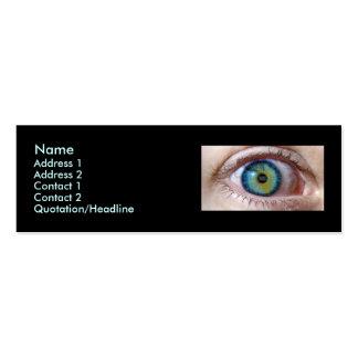 Paranoico del ojo tarjeta de visita