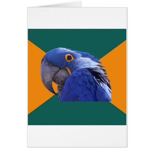 Paranoid Parrot Bird Advice Animal Meme Card