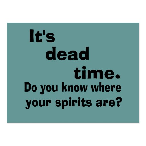 Paranormal Dead Time Postcard