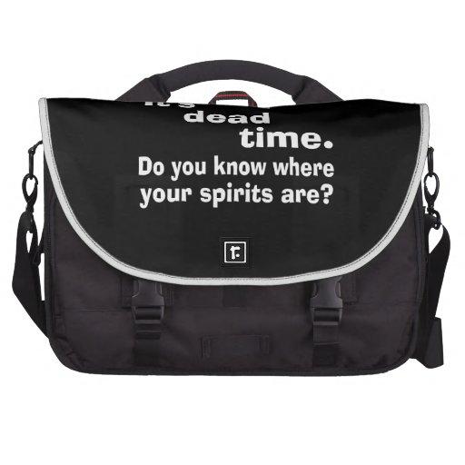 Paranormal Dead Time Public Service Announcement Commuter Bags