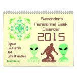 Paranormal Geek 2015 Bigfoot Aliens Crop Circles Wall Calendar