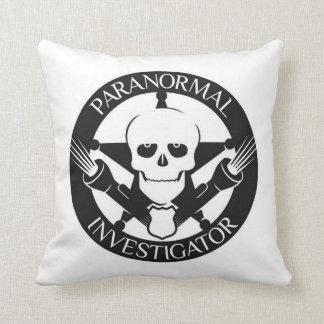 Paranormal Investigator Badge Throw Pillow