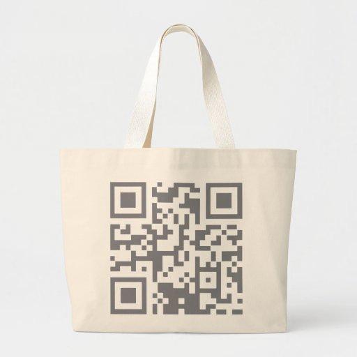 Paranormal Investigator Bar Code Canvas Bag