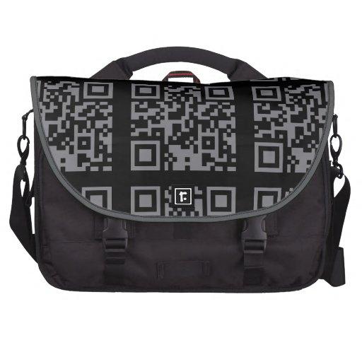 Paranormal Investigator Bar Code Laptop Messenger Bag