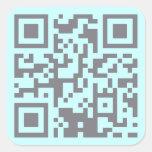 Paranormal Investigator Bar Code Square Stickers