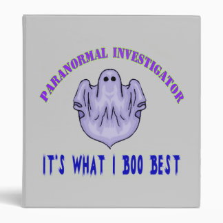 Paranormal Investigator binder