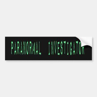 Paranormal Investigator - Black Background Bumper Sticker