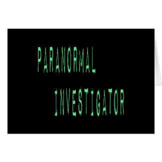 Paranormal Investigator - Black Background Card