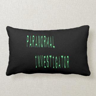 Paranormal Investigator - Black Background Throw Pillow