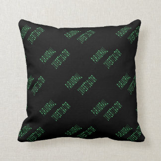 Paranormal Investigator - Black Background Pillow