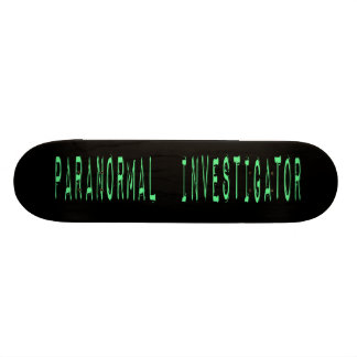 Paranormal Investigator - Black Background Skate Board Decks