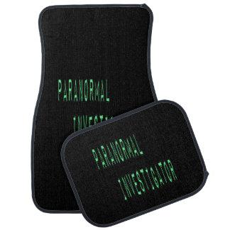 Paranormal Investigator - Black Background Floor Mat