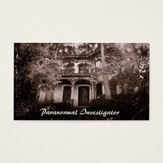 Paranormal Investigator Business Card HauntedHouse