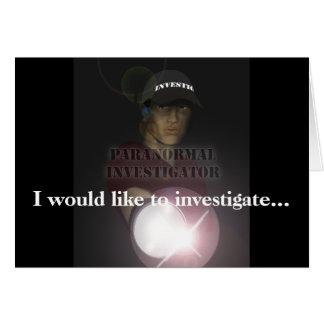 Paranormal Investigator Card