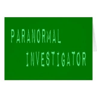 Paranormal Investigator Cards