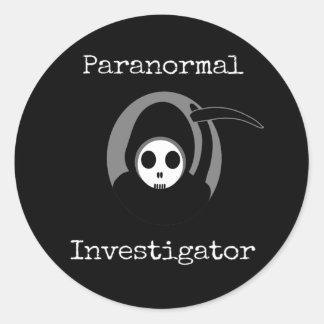 Paranormal Investigator Grim Reaper Sticker