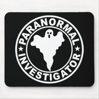Paranormal Investigator Logo Ghost Hunting Mouse Pad