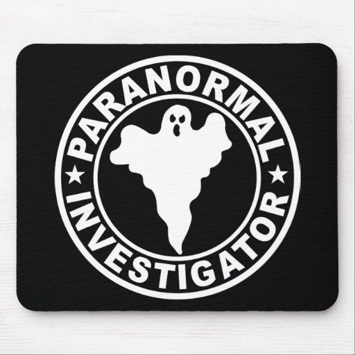 Paranormal Investigator Logo Ghost Hunting Mousepads