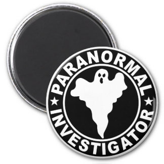 Paranormal Investigator Logo Supernatural Ghost Magnet