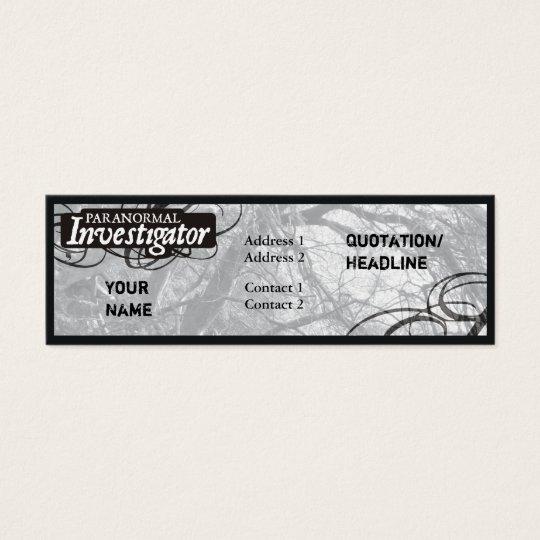 Paranormal Investigator Mini Business Card