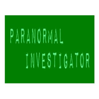 Paranormal Investigator Post Cards