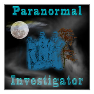 paranormal investigator poster