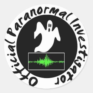 Paranormal Investigator Stickers