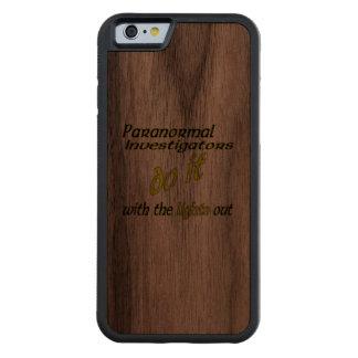 Paranormal Investigators Do It Carved Walnut iPhone 6 Bumper Case