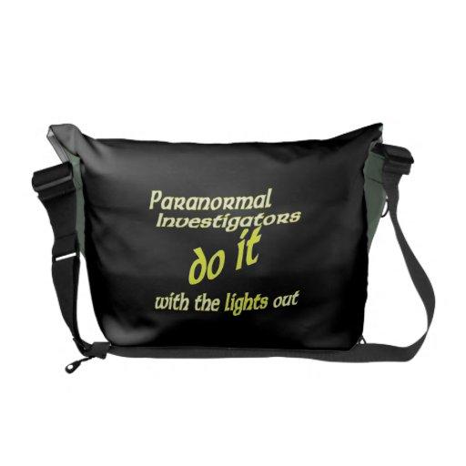 Paranormal Investigators Do It Messenger Bag
