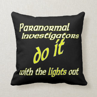 Paranormal Investigators Do It Throw Pillows