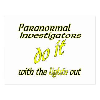 Paranormal Investigators Do It Postcard
