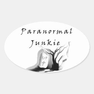 Paranormal Junkie Oval Sticker