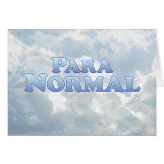 Paranormal - Mult-Productos Tarjeta De Felicitación