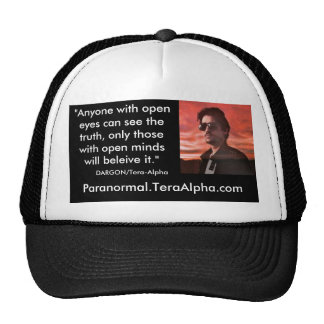 Paranormal.TeraAlpha.com - Open Mind Quote Hat