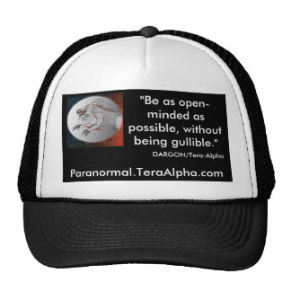 Paranormal.TeraAlpha.com - Promo Hat - Customized