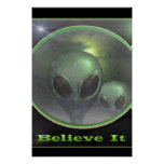 Paranormal UFO greys Posters